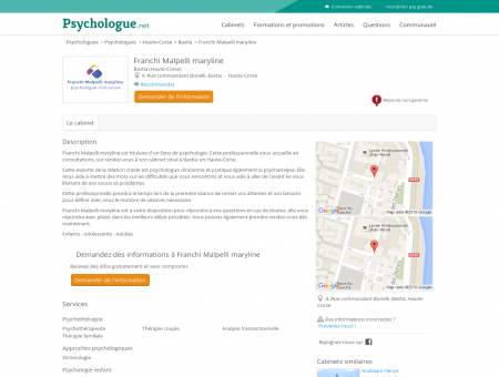 Franchi Malpelli maryline - Psychologue.net