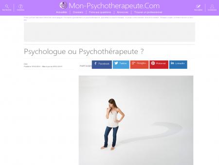 Psychologue ou Psychothérapeute  - Mon...