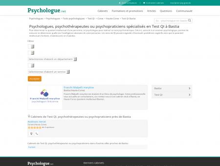Test QI Bastia - Psychologue.net