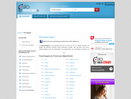 Psychologue - Médecin - Annuaire des...