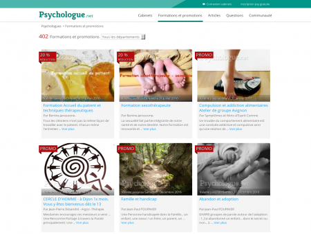 Formations et promotions - Psychologue.net
