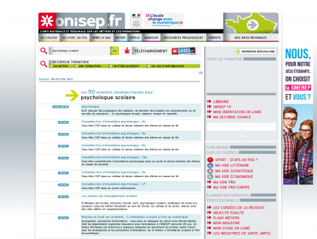 Recherche de psychologue scolaire - Onisep