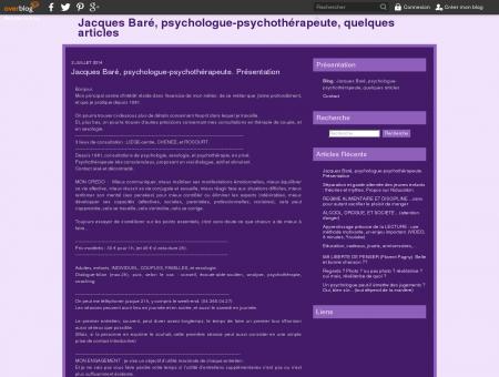 Jacques Baré, psychologue-psychothérapeute,...