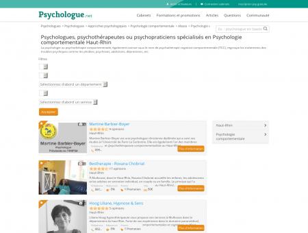 Psychologie comportementale Haut-Rhin -...