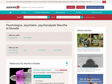 Psychologue Meurthe et Moselle 54 - Guide...