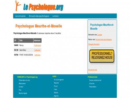 Psychologue Meurthe-et-Moselle