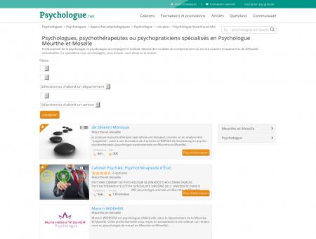 Psychologue Meurthe-et-Moselle -...