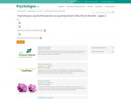 Psychologues Meurthe-et-Moselle - Pages 2 ...