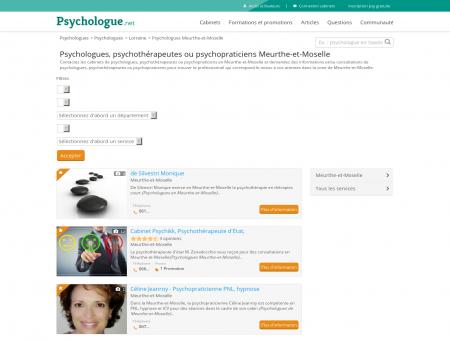 Psychologues Meurthe-et-Moselle -...