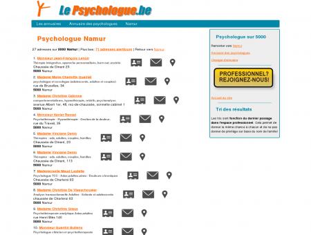 Psychologue Namur