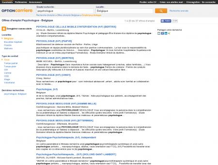 Offres d'emploi Psychologue - Belgique |...