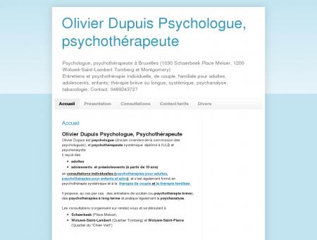 Olivier Dupuis Psychologue, psychothérapeute