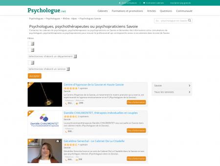 Psychologues Savoie - Psychologue.net