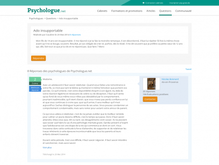 Ado insupportable - Psychologue.net