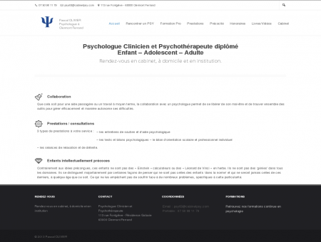 Cabinet de psychologie   Pascal OLIVIER...