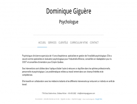 Dominique Giguère, psychologue
