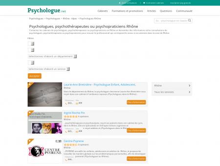 Psychologues Rhône - Psychologue.net
