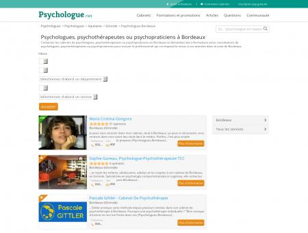 Psychologues Bordeaux - Psychologue.net