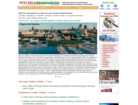 Psychologue et Psychothérapeute, Région de...