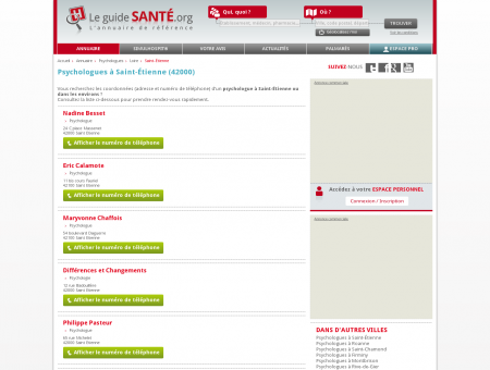 Psychologue Saint-Étienne - Psychologue à Saint-Étienne.