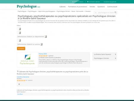 Psychologue clinicien La Rivière-Saint-Sauveur ...
