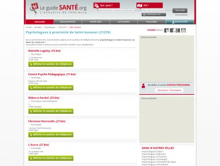 Psychologue à Saint-Sauveur (21270) | Le...
