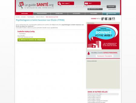 Psychologue à Saint-Sauveur-sur-École...