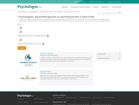 Psychologues Saint-Omer - Psychologue.net