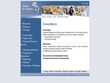 Psychologie - Diététique - La clinique des...