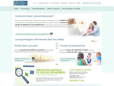 Accueil - Ordre des psychologues du Québec