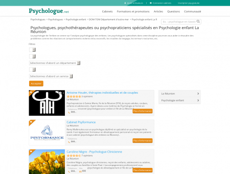 Psychologie enfant La Réunion - Psychologue.net
