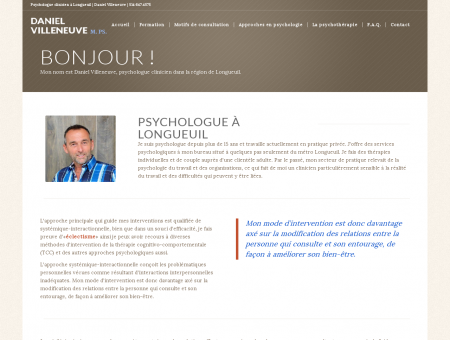 Psychologue à Longueuil - Daniel Villeneuve...