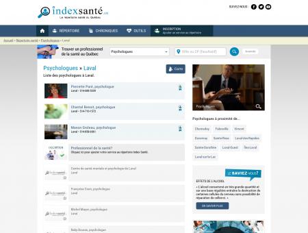 Psychologues » Laval - Index Santé - Le...