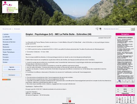 Emploi : Psychologue (h/f) - IME La Petite Butte ...