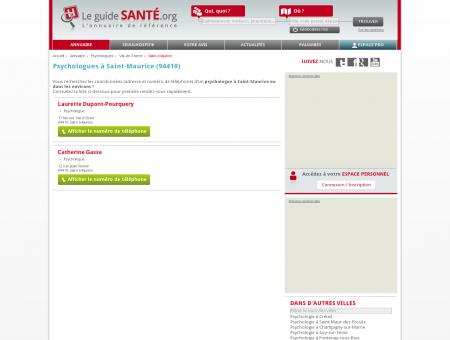 Psychologue Saint-Maurice - Psychologue à Saint-Maurice.