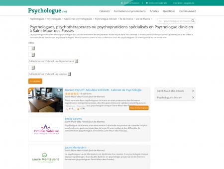 Psychologue clinicien Saint-Maur-des-Fossés ...