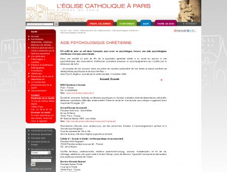 Aide psychologique chrétienne - Diocèse de Paris