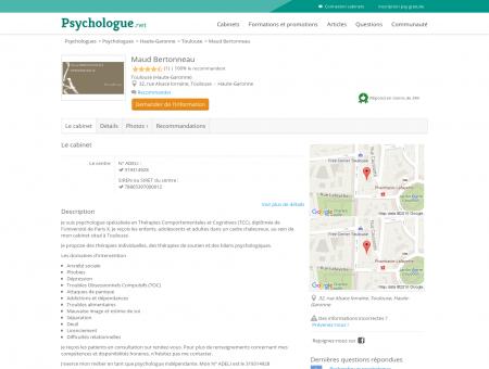 Maud Bertonneau - Psychologue.net