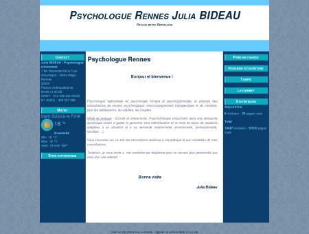 Julia Bideau Psychologue Rennes