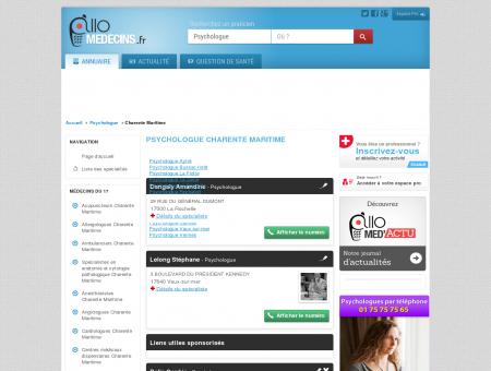 Psychologue Charente Maritime - Médecin -...
