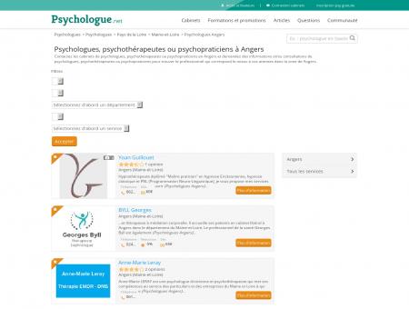 Psychologues Angers - Psychologue.net