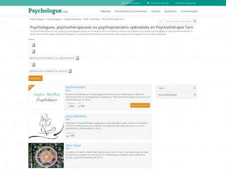 Psychothérapie Tarn - Psychologue.net