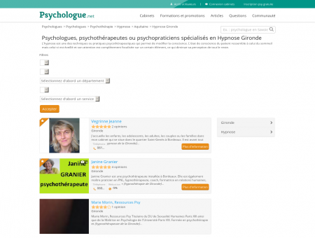 Hypnose Gironde - Psychologue.net -...