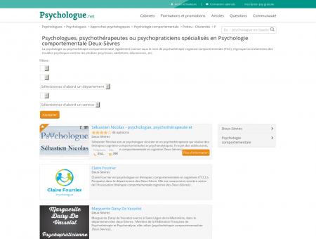 Psychologie comportementale Deux-Sèvres -...