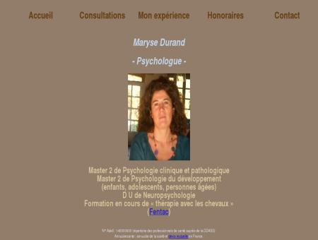 Maryse Durand -Psychologue-