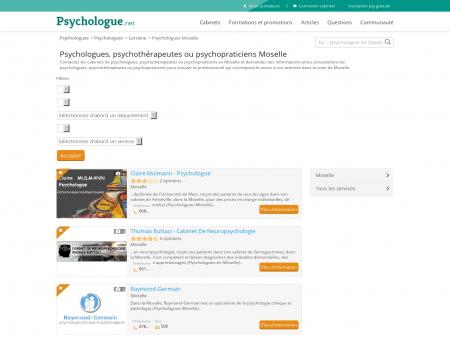 Psychologues Moselle - Psychologue.net