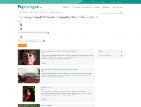 Psychologues Paris - Pages 3 - Psychologue.net