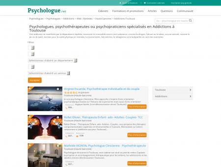 Addictions Toulouse - Psychologue.net