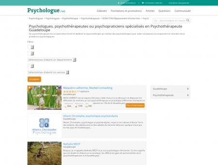 Psychothérapeute Guadeloupe - Psychologue.net
