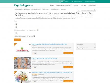 Psychologie enfant Val-d'Oise - Psychologue.net